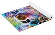 Pixelated Cubes Yoga Mat