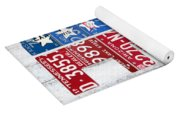 Political Party Election Vote Republican Vs Democrat Recycled Vintage Patriotic License Plate Art Yoga Mat