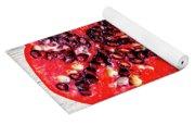 Pomegranate Cut In Half Yoga Mat