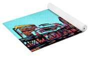 Pop Art Boston Skyline Yoga Mat