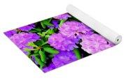 Pops Of Purple Yoga Mat