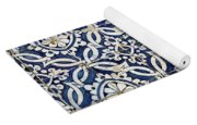 Portuguese Glazed Tiles Yoga Mat