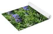 Pretty Blue Flowers Of Silky Lupine Yoga Mat