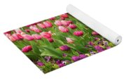 Purple And Pink Tulips In Canberra In Spring Yoga Mat