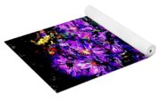 Purple Flower Still Life Yoga Mat