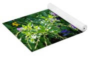 Purple Hanging Flowers Yoga Mat