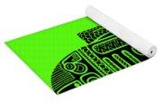 R2d2 - Star Wars Art - Green Yoga Mat