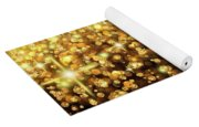 Rain Of Lights Christmas Or Party Background Yoga Mat