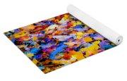 Rainbow Leaves Yoga Mat