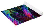 Rainbow Leaves Yoga Mat
