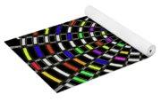 Random Color Oval Abstract Yoga Mat