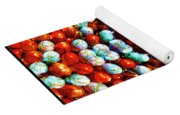 Red And Blue Stones Yoga Mat