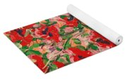 Red And Pink Poppies. Yoga Mat
