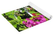 Red And Purple Flowers Yoga Mat