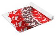 Red And White Fractal Yoga Mat