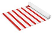 Red And White Triangles Yoga Mat