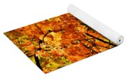 Red Autumn Leaves 2 Yoga Mat