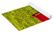 Red Chair Amoung Wildflowers Yoga Mat