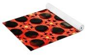 Red Chinese Window Yoga Mat