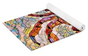 Red Crab Stained Glass Yoga Mat
