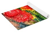 Red Floral Abstract Yoga Mat