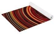 Have A Closer Look. Red-golden Spiral Art Yoga Mat