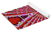 Red Heavy Screen Abstract Yoga Mat