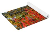 Red Leaves Of Autumn Yoga Mat