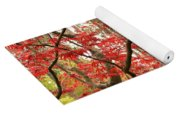 Red Maple Leaves And Branches Yoga Mat