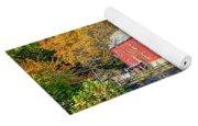 Red Mill Nj Fall Landscape Yoga Mat