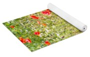 Red Poppies And Wild Flowers Yoga Mat