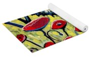 Red Poppies Under A Blue Sky Yoga Mat