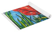 Red Poppy 1 Yoga Mat