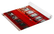 Red Telephone Booths London Yoga Mat