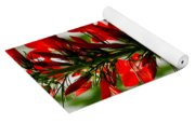 Red Texas Plume Flowers Yoga Mat
