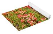 Red Texas Wildflowers Yoga Mat