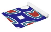 Red White And Blue Tulips Pattern- Art By Linda Woods Yoga Mat