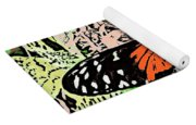 Red Winged Butterfly Yoga Mat