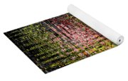 Red Yellow White Black Abstract Yoga Mat