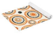 Retro Circles Pattern Yoga Mat