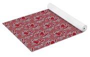 Retro Red Pattern Yoga Mat