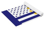 Rhode Island State Flag Graphic Usa Styling Yoga Mat