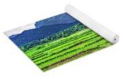 Rice Paddies And Mountains Yoga Mat