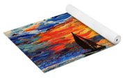 Romantic Sea Sunset Yoga Mat