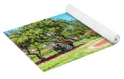 Rose Garden Benches Impressionist Digital Painting Yoga Mat