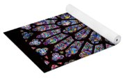 Rose Window At Notre Dame Cathedral Paris Yoga Mat