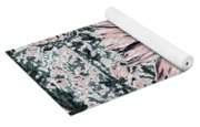 Rose Wine Daisies Yoga Mat