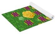 Roses Dancing On A Tulip Field Of Festive Colors Yoga Mat