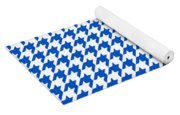 Rounded Houndstooth White Background 18-p0123 Yoga Mat