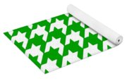 Rounded Houndstooth White Pattern 09-p0123 Yoga Mat